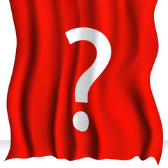 Red Cloth With Question Mark