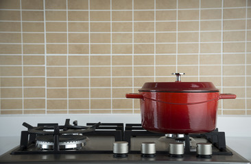Vignetted Gas Stove