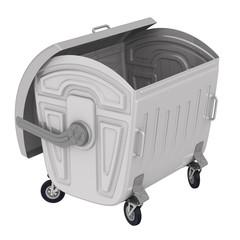 Открытый контейнер для мусора на колёсах