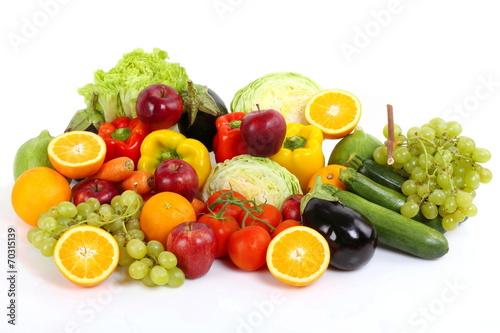 Fotobehang Groenten Frutta e verdura