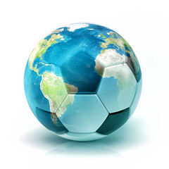 World soccer (Elements of this image furnished by NASA)
