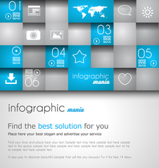 Infographic design template. Ideal to display information