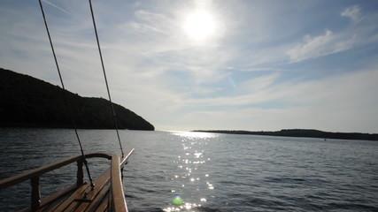 Boot auf dem Limfjord, Istrien, Kroatien