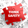 Think Safety on Red Puzzle.