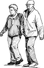 elderly spouses