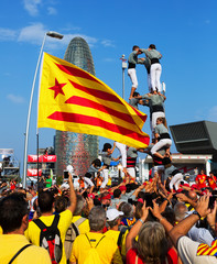 Catalan show - Castell in National Day of Catalonia