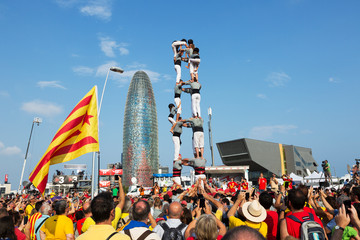 Castell show in The National Day of Catalonia