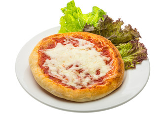 Pizza with tomato and cheese