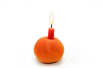 kerze in manderine