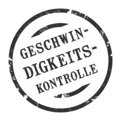 sk195 - StempelGrafik Rund - Geschwindigkeitskontrolle - g1704
