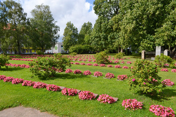 Old military cemetery in Lappeenranta