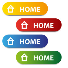 vector color home buttons