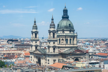 St. Stephen's Basilica and roofs of Budapest