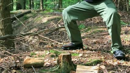 Chopping Wood Slow Motion