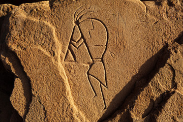 pictogram on rock face