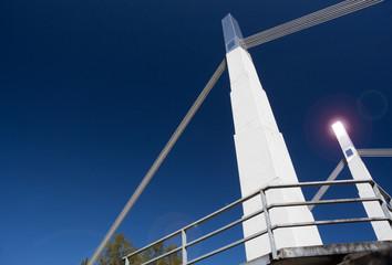 Suspension Bridge at Flaming Geyser State Park