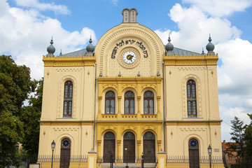 The building of the old Jewish synagogue.