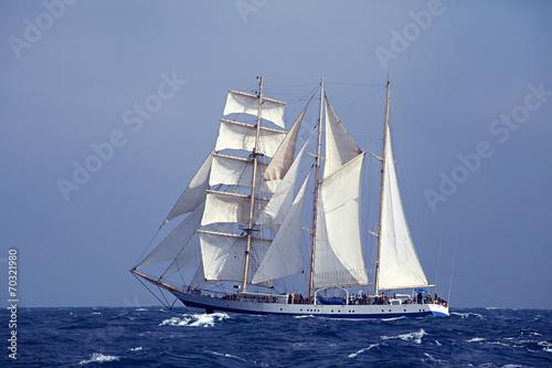 Tall ship in the sea