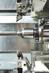 metal turning process on machine tool