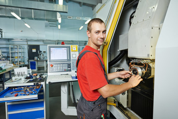 manufacture worker at tool workshop
