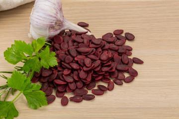 Red pumpkin seeds
