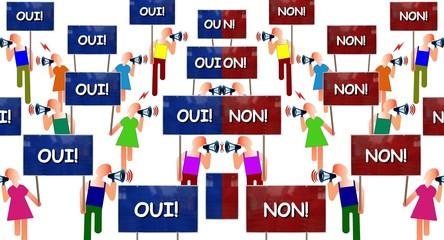 """Manifs """"Oui vs Non"""""""