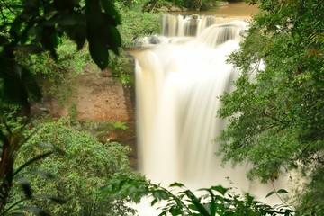 Haew Suwat Waterfall in Kao Yai Nation park of Thailand