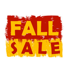 fall sale, yellow and brown drawn label