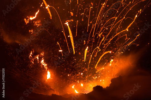 Volcano Yasur Eruption