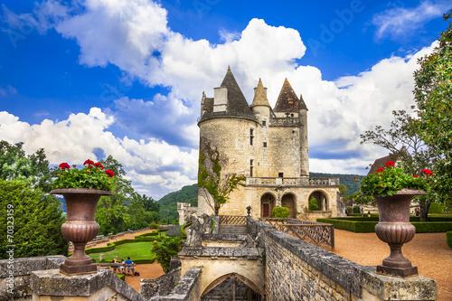 Papiers peints Chateau most impressive medieval castles of France - Milandes