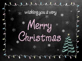 Merry Christmas blackboard chalkboard sign