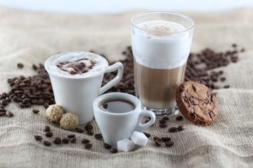 Kaffee, Latte Macchiato, Espresso
