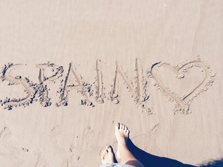 draw on the beach