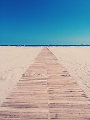 path to sea on the beach