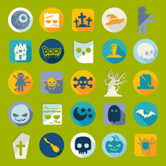 Set of halloween icons