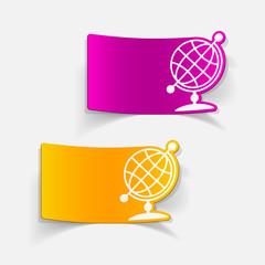 realistic design element: globe