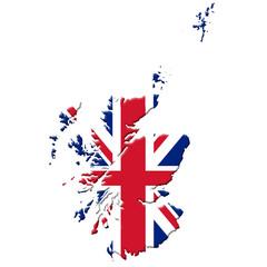Schottland mit Union Jack