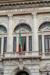 Facciata palazzo Cassa di Risparmio Pisa, centro storico