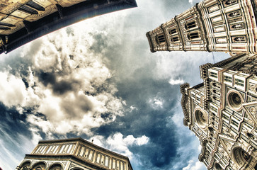 Wonderful architecture and sky colors in Piazza del Duomo - Fire
