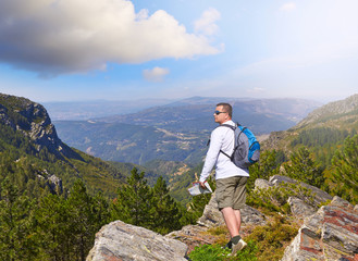 on a rock in the National Park in Portugal