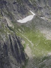 Glaciar en los Alpes franceses