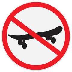 not, ride, skateboard, sign