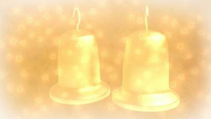 romantic wedding bells - seamless loop