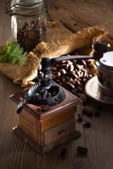 Coffee beans with nice setup in mood lighting