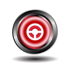 Steering Wheel Vector icon isolated
