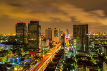 Skyline in Bangkok.