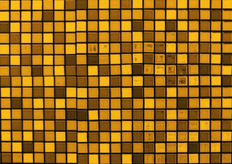 Brownish tone mosaic tile background