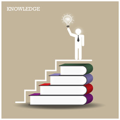 Knowledge and learning concept