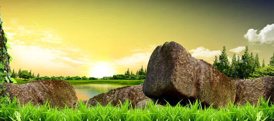 Beautiful view Nature Background