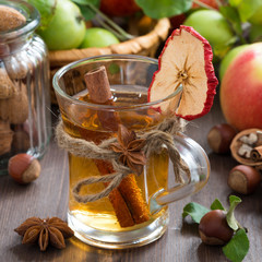 spiced apple cider in glass